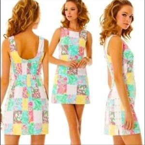 Lilly Pulitzer Delia Dress in Multi State Patch